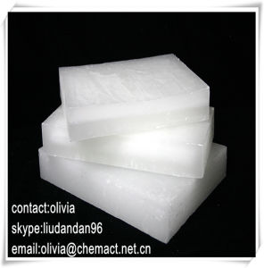 Semi Refined Paraffin Wax 58-60 Deg. C (S58) Kunlun Brand Slab Wax for Candle Making pictures & photos