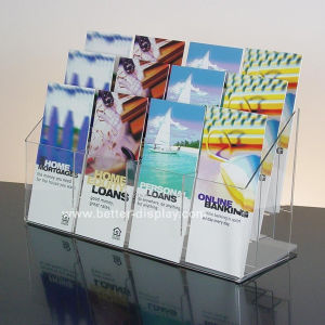 1/3 A4 Acrylic Desktop Brochure Holder with 12 Pockets (BTR-H6040) pictures & photos