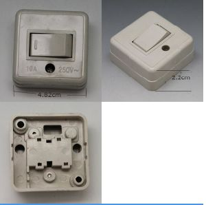 1gang Switch Gray ABS Square 220V10A pictures & photos