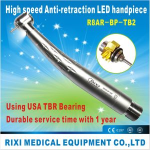 Dental Anti-Retraction LED Handpiece with TBR Bearing