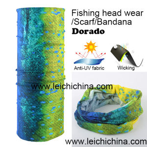 Anti UV Wicking Dorado Fishing Headwear Scarf Bandana