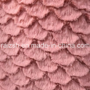 PV Polyester Warp Velvet Plush with Flower Fan Shape Design