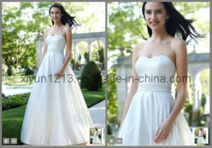 Beaded Strapless A-Line Wedding Dresses (Style WG3389)