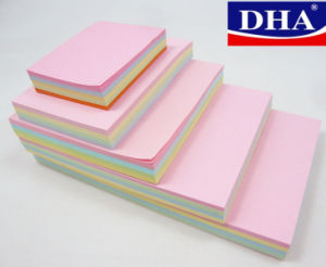 China Colored Sticky Note All Standard Size Self Adhesive Feature