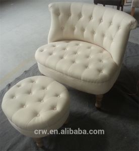 Hot Sale 2 Seat Button Sofa with Ottoman pictures & photos