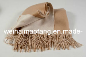 100% Pure Cashmere Fringed Throw Blanket pictures & photos