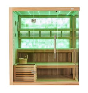 Luxury European Style Good Quality Lose Weight Dry Sauna with Yellow Jade M-6048 pictures & photos
