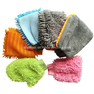 High Quality Microfiber Chenille Car Wash Mitt pictures & photos