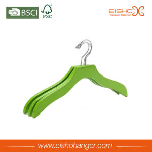 Wave Green Wooden Clothes Hanger for Shirt pictures & photos