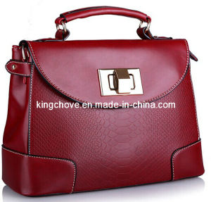 Best Selling Burgundy High Quality PU Fashion Ladies Bag (KCH80-03)