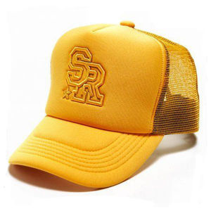 Cap Adjustable No logos NEW YELLOW Mesh Truckers Hat