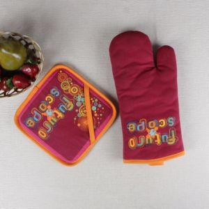 100/% Cotton Double Oven Gloves Mitt Kitchen Pot Holder Thick Heat Resistant