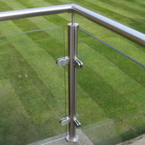 Balcony Glass Railing with Stainless Steel Baluster pictures & photos