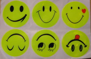 Reflective Smiley Stickers Reflective Safety Sticker (YLS01) pictures & photos