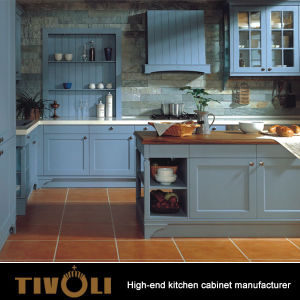 China Factory Wholesale Luxury Design Solid Wooden Kitchen Cabinet
