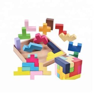 3D Katamino Wooden Tetris Puzzle Toys, Brain Teaser Toy Block Puzzle, Custom Magic Puzzle Cube
