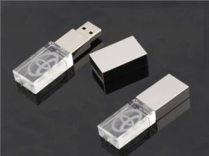 Free Logo Full Capacity 4GB 8GB 16GB Crystal USB Stick pictures & photos