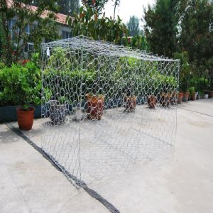 Galvanized Gabion Box with 80X100mm Mesh Size