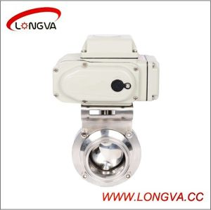 Food Grade Ss304/316L Electric Butterfly Valve pictures & photos