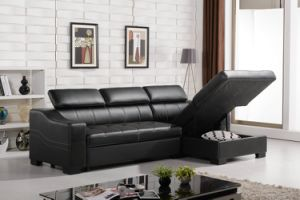 Modern Design with Storage Functional Leather Sofa Bed pictures & photos