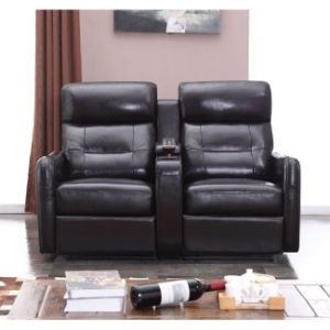 New Arrival Black Color Home Theater Recliner Sofa 6039TV pictures & photos