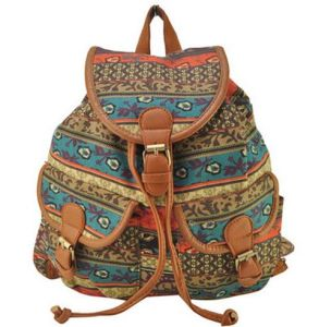 Women Backpack Floral Bag Bucket School Bag