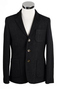 2 Button Black Color Men′s Blazer