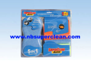 5 in 1 Microfiber Car Wash Kit with Blister Card Packing (CN1470) pictures & photos