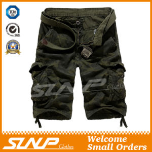 100% Cotton Camouflage Cargo Shorts Clothes for Men