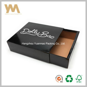Black Drawer Corrugated Paper Box with Logo Printing pictures & photos