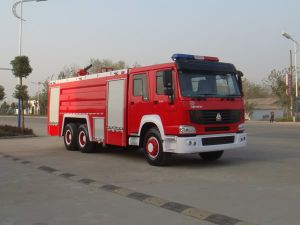6*4 HOWO 251-350HP Euro 2 Fire Truck, Rhd Fire Engine pictures & photos