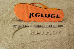 8121bd4d1 China Debossed Logo Flip Flop Embossed Sandal Die Cut Slipper - China  Debossed Beach Shoes
