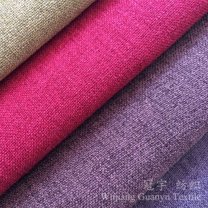 Linen Look and Touch 100% Polyester Fabric for Sofa pictures & photos