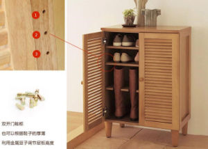 Solid Wooden Shoe Cabinet Modern Stool Living Room Shoe Cabinet (M-X2065) pictures & photos