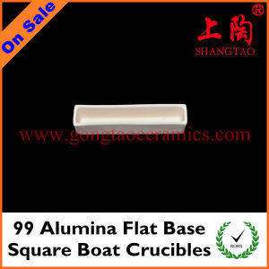 99 Alumina Flat Base Square Boat Crucibles pictures & photos