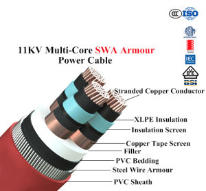 11kv Multi-Core Swa Armour Power Cable Copper Cable pictures & photos