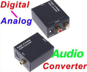 Digital Optical Toslink Coaxial to Analog RCA R/L Audio Converter Adapter