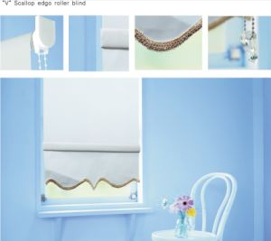 """V"" Scallop Edgo Roller Blind for Window (CB-94C) pictures & photos"
