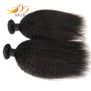 Kinky Straight 8A Grade Indian Virgin Human Hair Weft pictures & photos