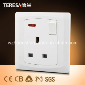 Promotional 3*3 45A Wall Double Pole Function Main Electrical Switch pictures & photos