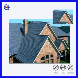 No Fade Building Material Stone Coated Metal Shingle Roof Tile pictures & photos