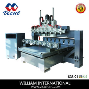 Door Making 4 Spindle CNC Wood Router Vct-1325we pictures & photos