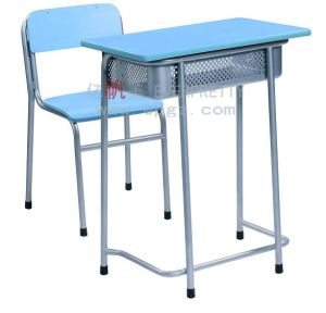 Modern School Furniture Student Single Desk with Chair (SF-14F) pictures & photos
