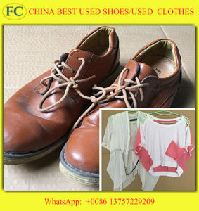 Good Quality Good Price Hot Sale in Africa Used Leather Shoes (FCD-005)
