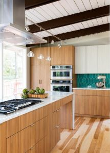 Project Design Maple Wood Kitchen Cabinet pictures & photos