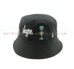 Popular Design Your Own Custom Plain Bucket Hat with Embroidered Cartoon 5812ced98531