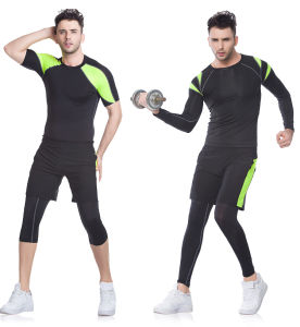 Customized Color Fashion Fitness Compression Gym Running Sportswear