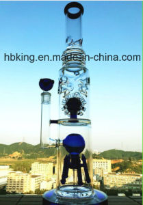 "22"" Big Pipe 7mm Thick Glass Water Pipe Percolator Smoking Pipe"