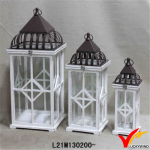 White Rustic Decoration Antique Vintage Handmade Table Wedding Wooden Lantern pictures & photos