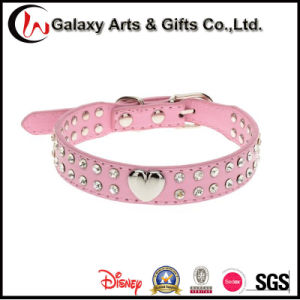 Best Selling Synthetic Leather Rhinestone Zinc Alloyheart Pet Collar Bling